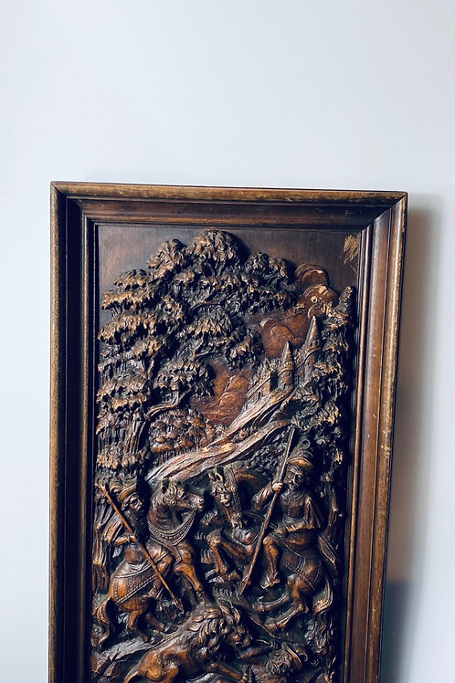 Hand carved wall piece