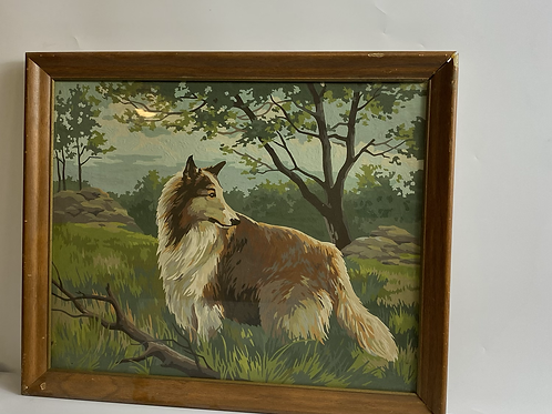 Lassie framed paint by number