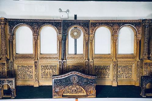 RECOVERED/ CHARRED ARCHWAYS OF TRANSFIGURATION GREEK ORTHODOX CHURCH OF CORONA
