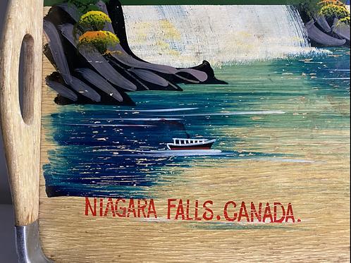 Hand painted Niagara Falls serving tray