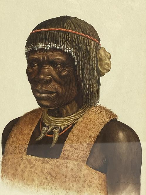 Tribal Villager watercolor