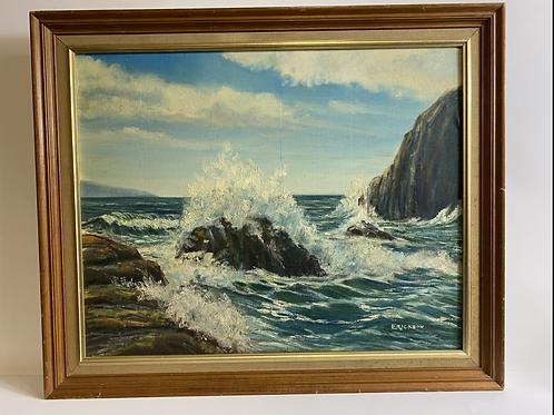 """""""Waves crashing"""" Original painting by Erickson"""