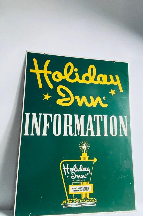 Original Holiday inn information desk sign