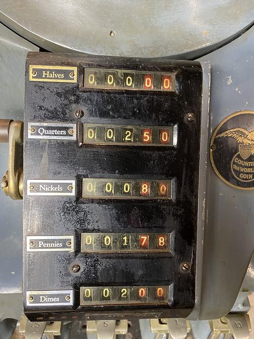 Antique Vintage Standard Johnson Coin Sorter counter