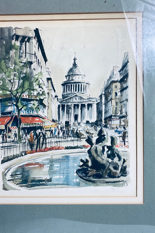 Original painting of French streets