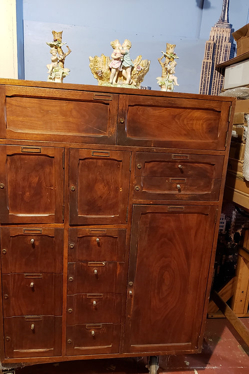 Antique locking tea cabinet early 1900's
