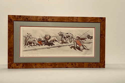 """Oh Liberte...Liberte Cherie"" artist signed hand-colored etching"
