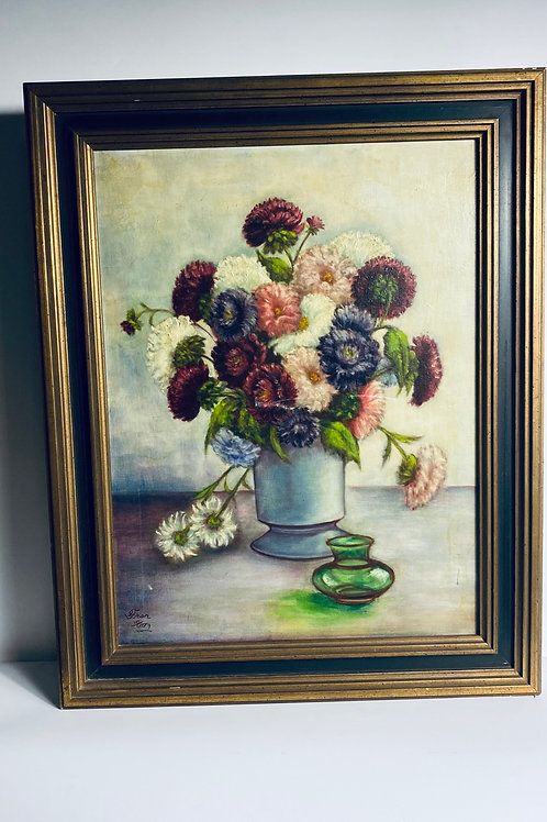 Painting of flowers with multiple colors