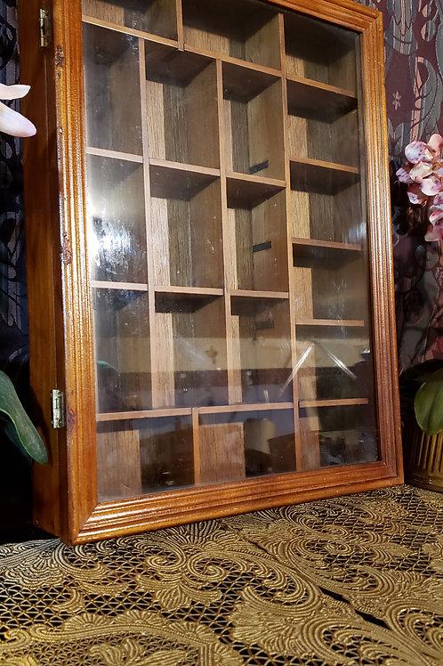 Shadow box curio wall shelf