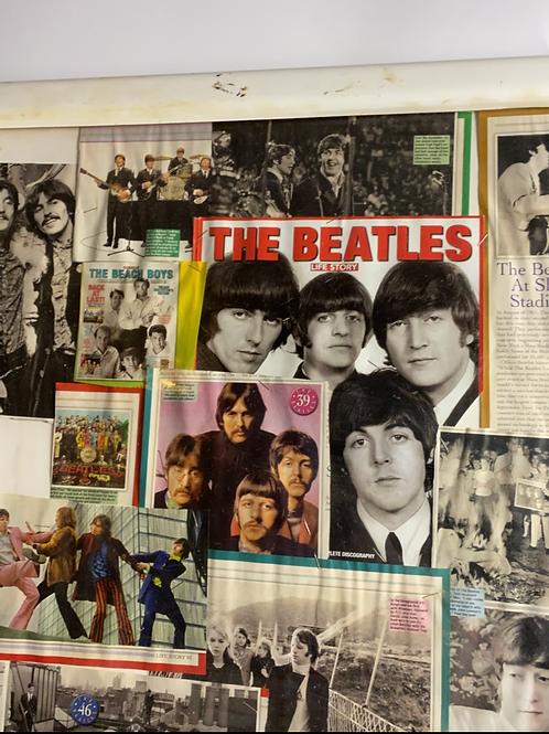Fan-made beatles memorabilia poster