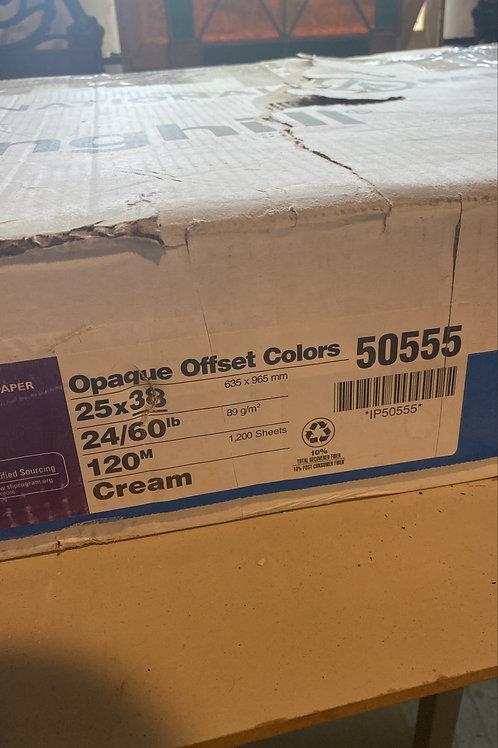 """25"""" x 38"""" cream size paper"""