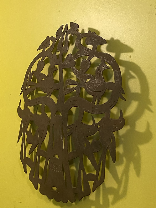Haitian steel drum art birds of a feather by Meda Ulysse