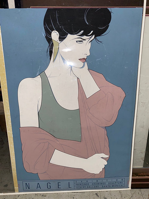 An original exhibition serigraph for ubiquitous eighties artist Patrick Nagel