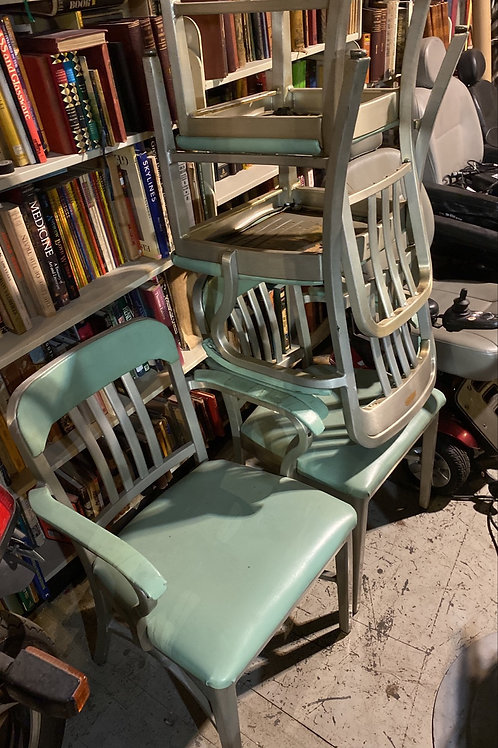 Teal Shop chairs (5)