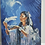 Thumbnail: Paint by number Native American woman with wolf and eagle