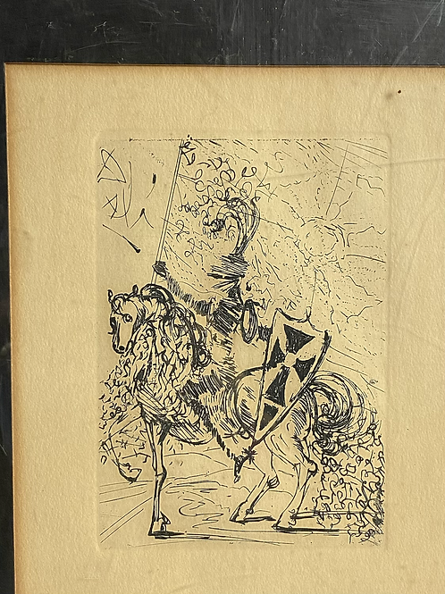 El CID by Salvador Dali  - Etching (1968)