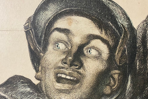 (Jules-Abel Faivre, On les aura!, Vintage 1916 WWI French Poster.