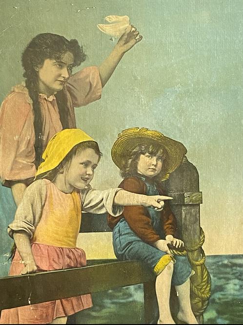 3 kids on the dock