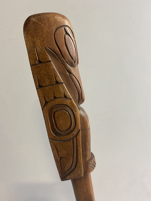 Hand carved Raven by Jim Yelton (Squamish Nation)