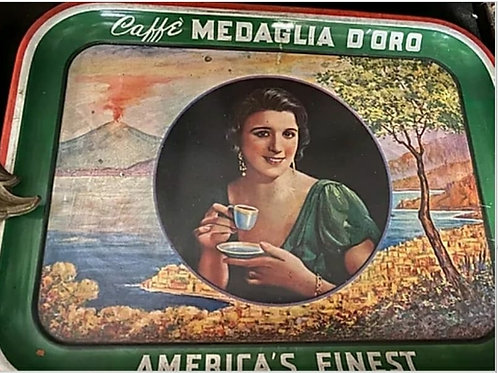 1939 Workd's Fair giveaway Medaglia D'Oro Coffee Tray