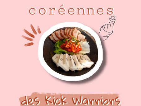 Les adresses coréennes des Kick Warriors
