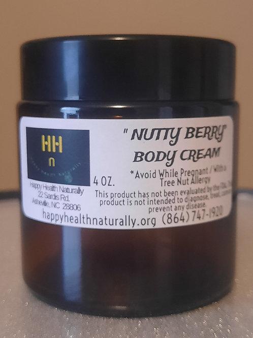 """""""NUTTY BERRY"""" BODY CREAM 4 OZ."""