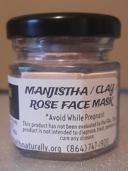 FACE MASK-MANJISTHA/ROSE/CLAY 1.5 OZ.