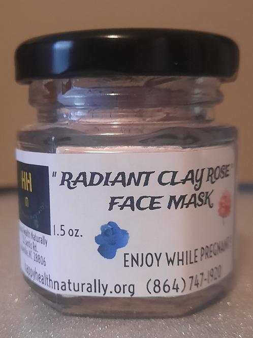"FACE MASK- ""Radiant"" Clay / Rose 1.5 oz."