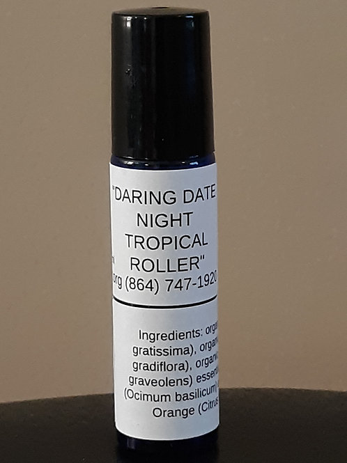 Tropical roller with organic ingredients in cobalt-blue 10 ml roller