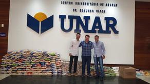 Curso de Direito UNAR arrecada mais de 1 tonelada de alimentos