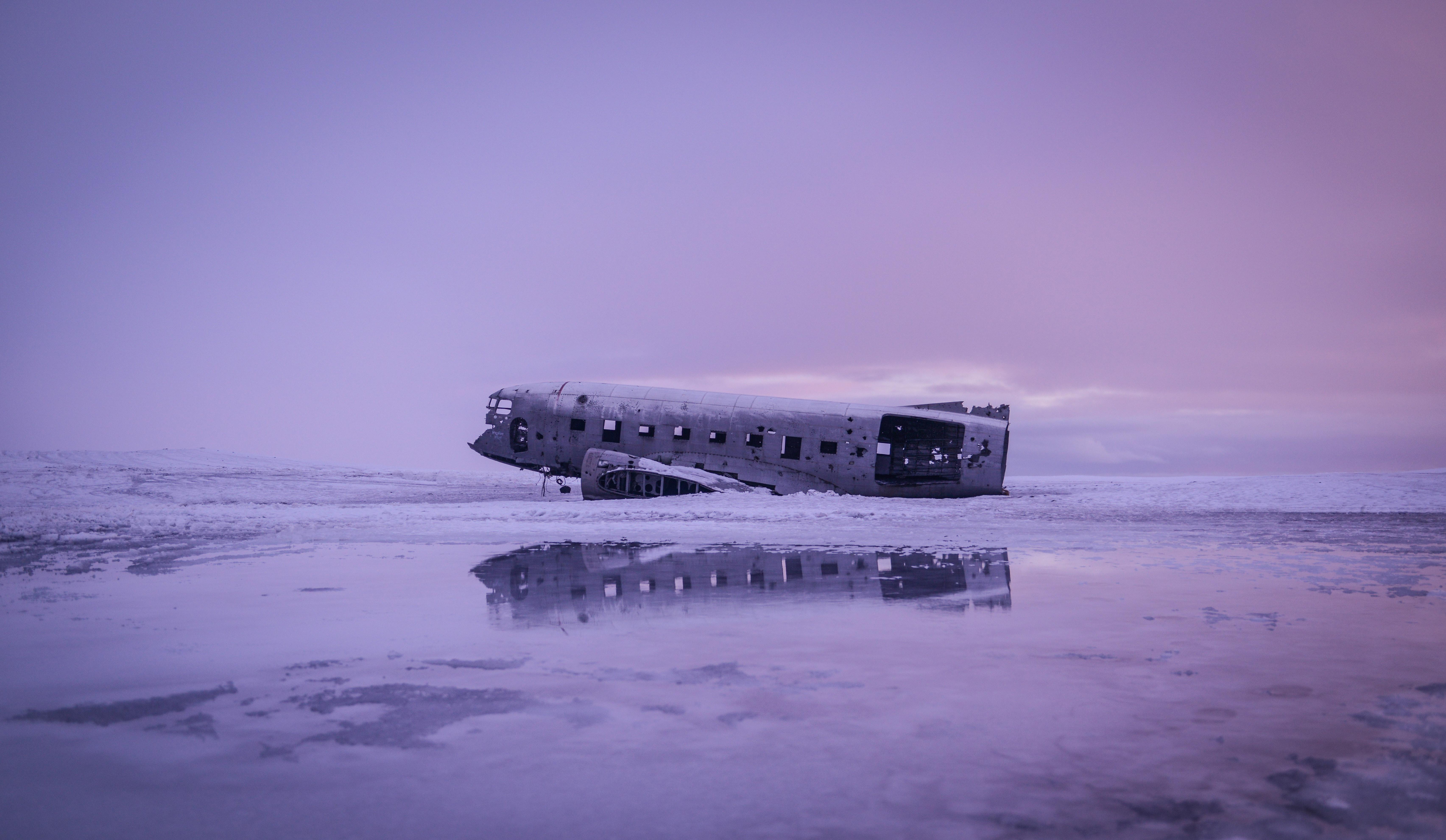 Plane wreck in Vik