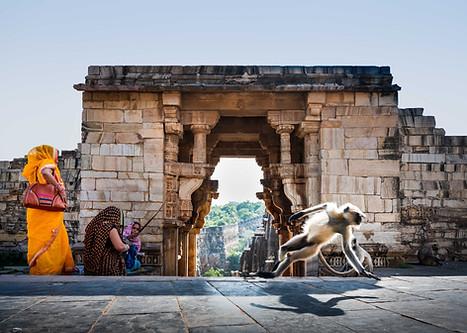 Entrance to Gomukh Holy Kund in Chittorgarh