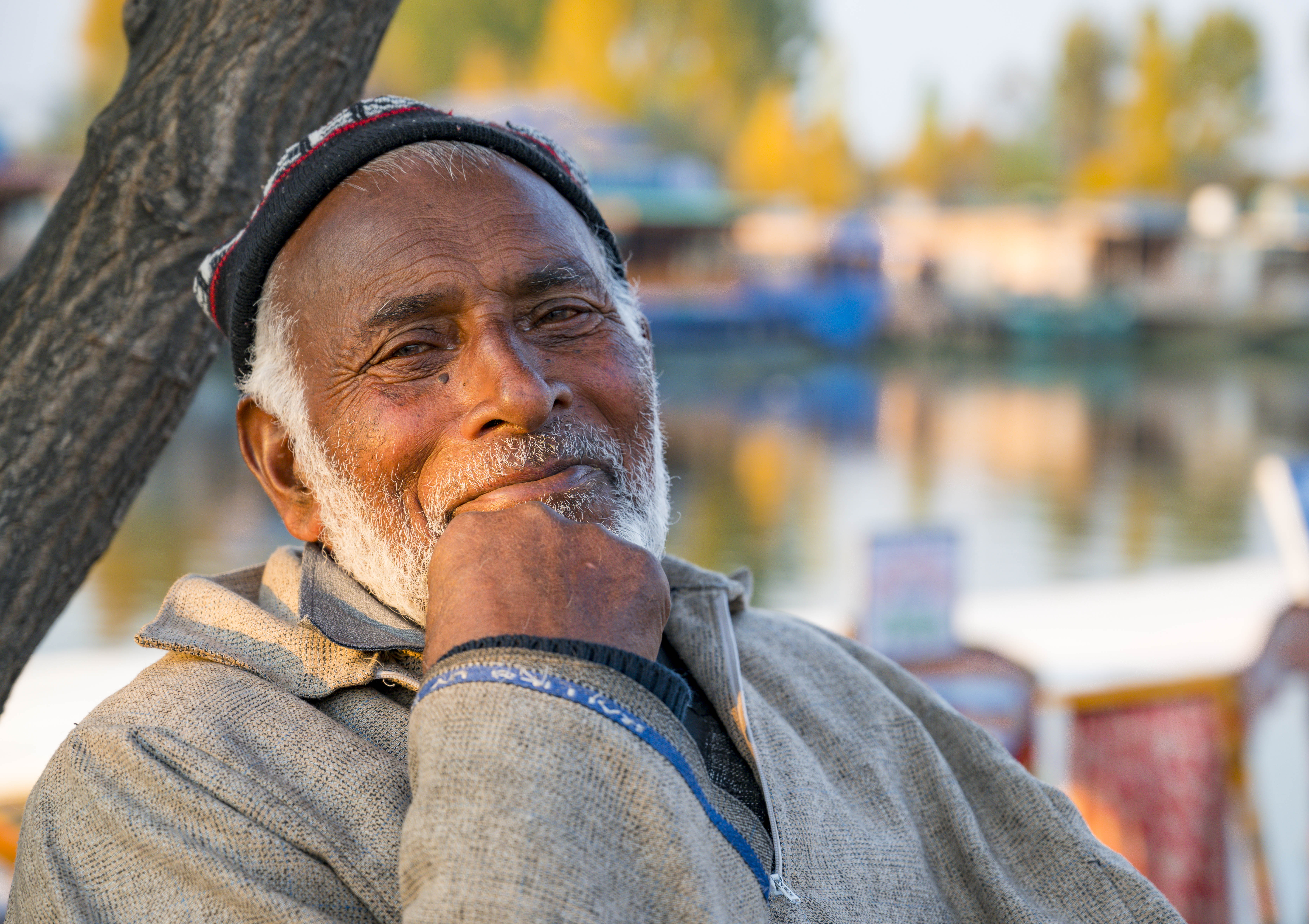 Portrait of a boatman, Srinagar