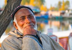 Portrait of a boatman, Srinagar
