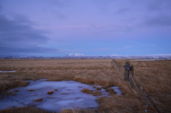 Iceland cold evening blue hour