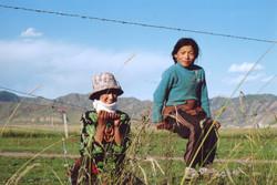 Gansu woman and daughter