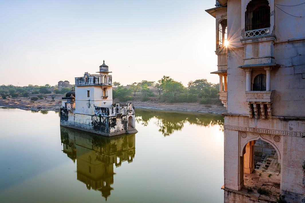 Sukhadia Kund and Padmini Palace at Chittorgarh