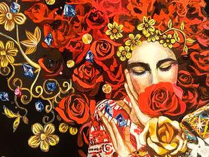 和歌の宿 わかまつや『薔薇の閒 咲き乱れる情熱』