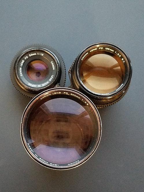 Canon FD Objektiv Set EF-Mount