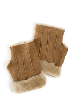 OBE Leather Texting Mitts Caramel
