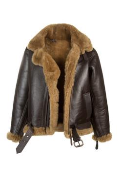 OBE Leather Retro Flying Jacket open