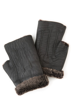 OBE Leather Grey Mitts