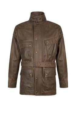 OBE Leather Retro Car Coat