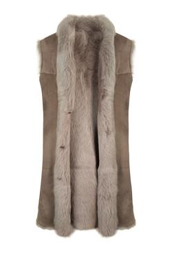 OBE Leather Sheepskin Toscana Gillet Mus