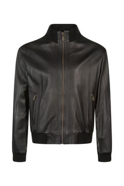 OBE Leather Bomber Jacket