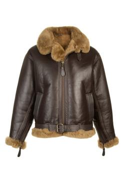 OBE Leather Retro Flying Jacket closed