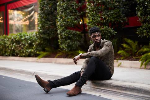 Commercial Portrait Photography - Black Male Melinial Model