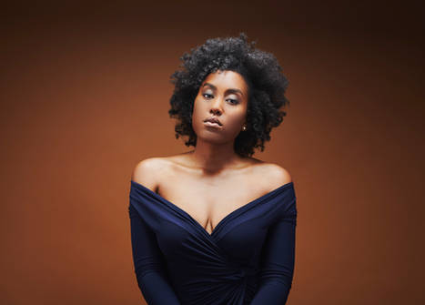 Commercial Portrait Photography - Black Female Model with Natural Hair and Curls