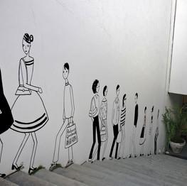 muro da loja da Rebeca Guerberoff