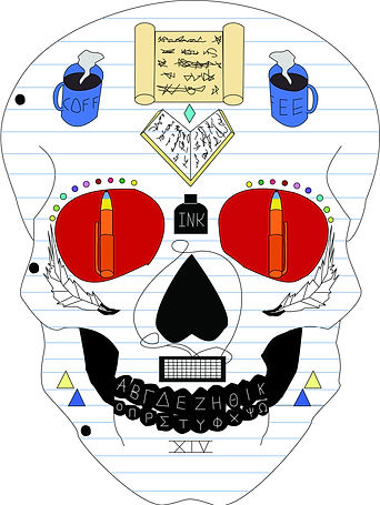 Skull, artwork, sugar skull, writer